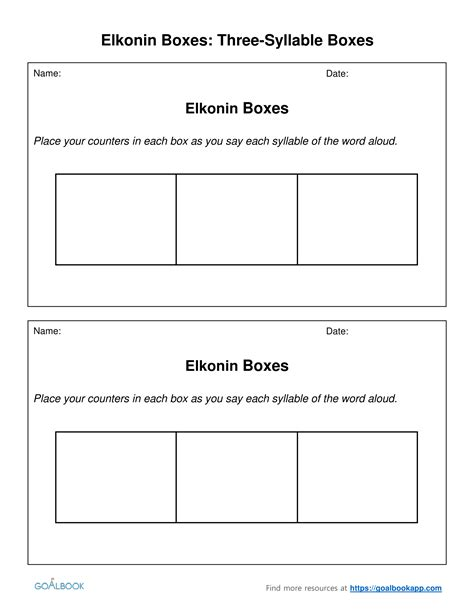 elkonin boxes template elkonin boxes udl strategies