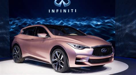 rose gold infiniti car infiniti q30 2016 production car revealed by car magazine