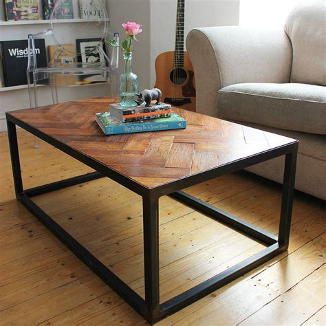 Floor Table by Upcycled Parquet Floor Coffee Table By Ruby Rhino