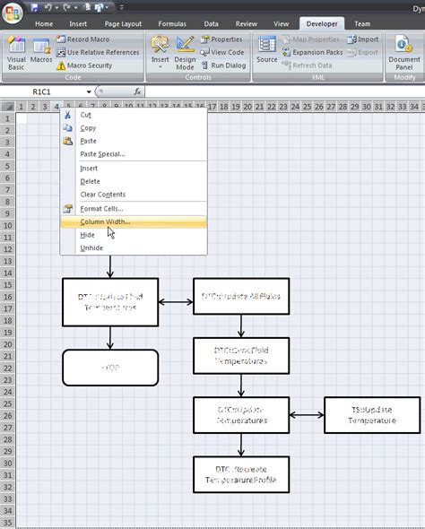 flowchart database exle how to create flowcharts with shapes in excel