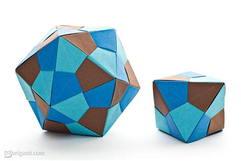 Origami Icosahedron - origami icosahedron and octahedron by tomoko fuse go origami