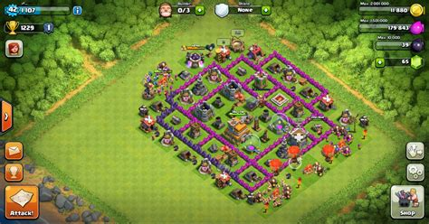 hd town hall 7 clash of clans defense layout town hall 7 hd image