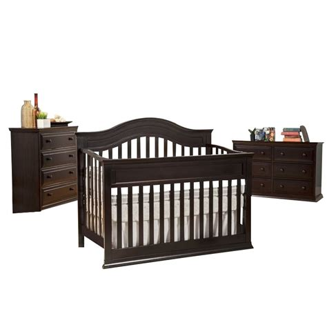 Davinci Brook 4 In 1 Convertible Crib 3 Piece Set In Dark 4 In 1 Convertible Crib Sets