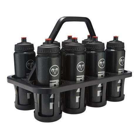 8 bottle water bottle carrier 8 water bottles plastic carrier set ram rugby