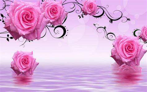 wallpaper 3d rose rose flowers wallpaper 3d wallpaper bits