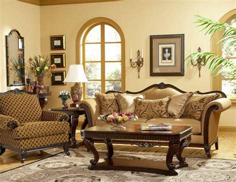wood trim fabric sofas sevilla old world wood trim fabric sofa chair set living