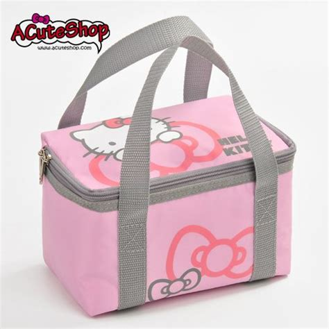 Lunch Bag Hello hello ribbon insulated lunch bag pink we bags and