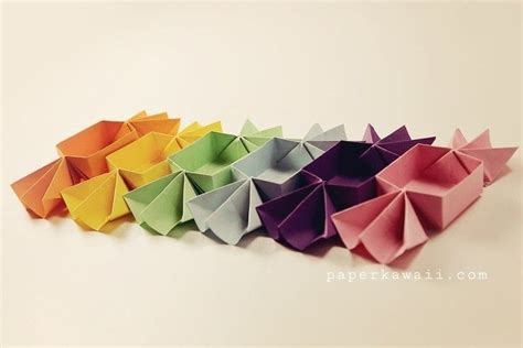 origami candy shaped box tutorial   fold