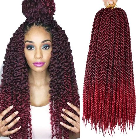 ombre crochet hairstyles 18inch 3d cubic twist crochet braids hair extensions