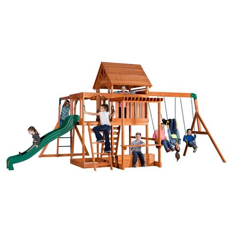 backyard discovery monticello cedar swing set backyard discovery monticello all cedar playset 35015com