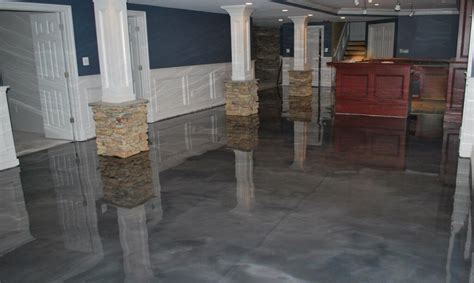 basement flooring paint ideas paint metallic epoxy basement floor jeffsbakery