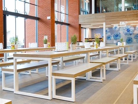 canteen benches block steel white canteen table and benches canteen furniture