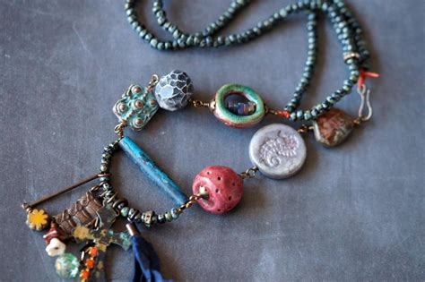 bead treasures bead soup jewelry treasures necklace assemblage