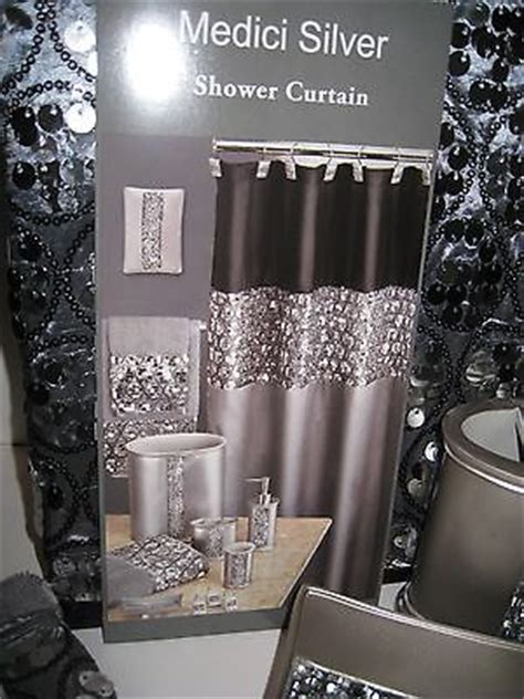 black and silver shower curtain hollywood glam sequin silver black shower curtain bath