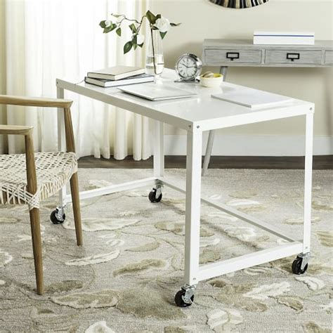 Simple Metal Desk White West Elm Simple White Desk