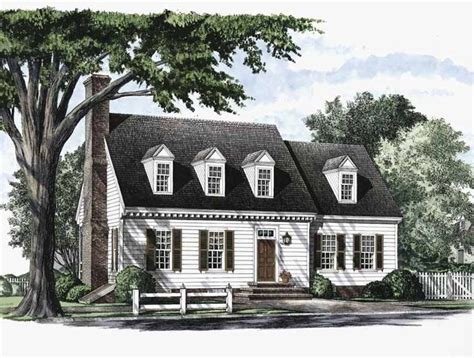 Two Story Cape Cod House Plans by Floor Plans Aflfpw17820 2 Story Cape Cod Home With 3