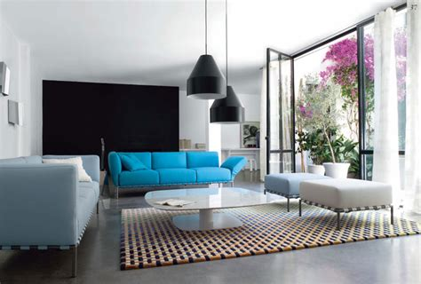 black white blue living room luxury living room with black ls blue and white sofas interior design ideas