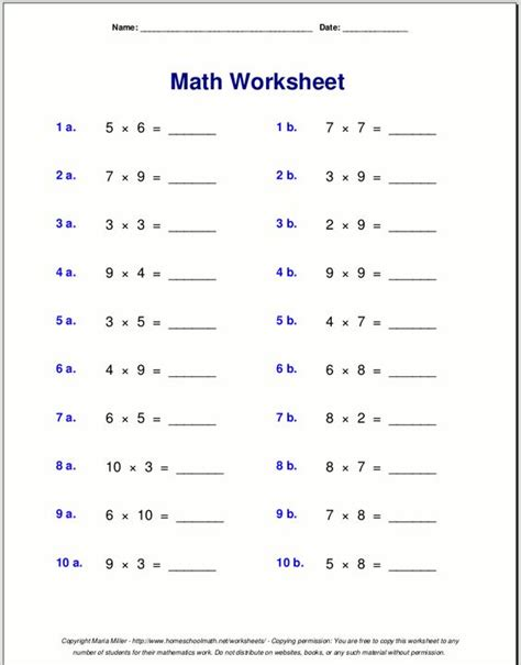 practice times tables free worksheets 187 times table practice sheets free math worksheets for kidergarten and