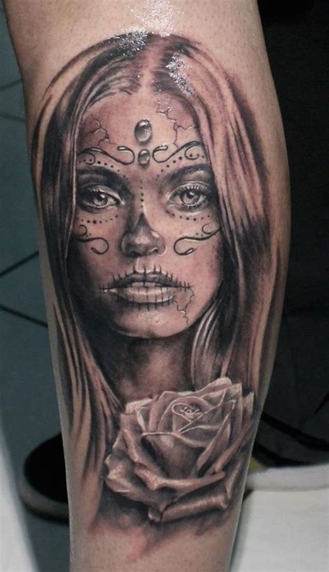 101 Day Of The Dead Tattoos That Are Haunting And Brilliant Day Of The Dead Tattoos