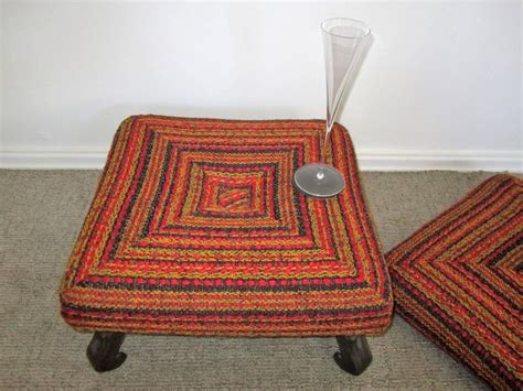 Colorful Ottomans For Sale Vintage Colorful Ottoman Bench Or Stool For Sale At 1stdibs