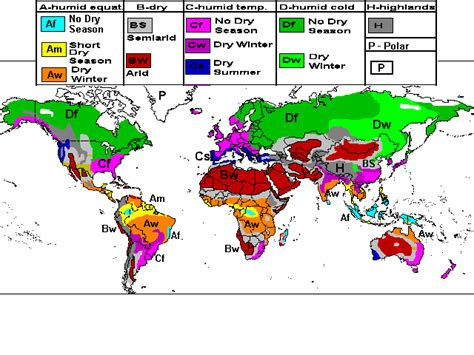 world map climate regions postalda