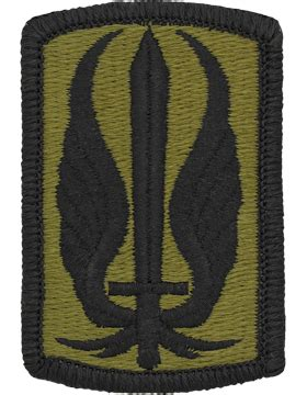 operational camouflage pattern unit patches ocp unit patch 17th aviation brigade with fastener