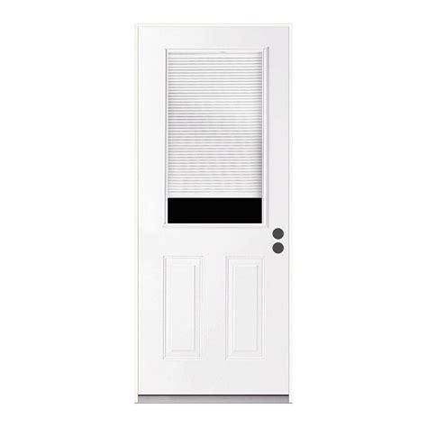 Micro Blinds For Doors by Jeld Wen 36 In X 80 In 1 2 Lite Primed Steel Prehung