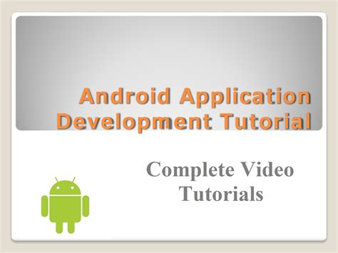 Android Development Tutorial by Android App Development Tutorials For For 50 Seoclerks