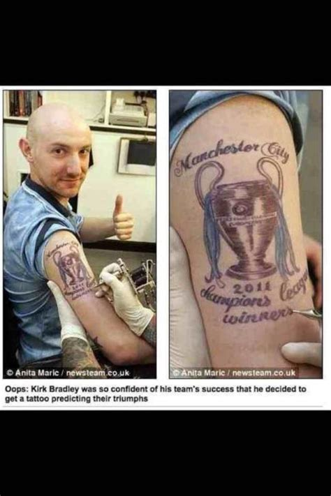tattoo jokes stupidest manchester city fan