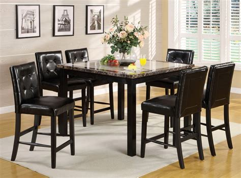 Black Counter Height Table Set by Atlas Ii Black Counter Height Dining Set With