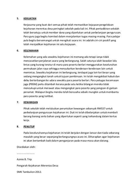format laporan dana desa laporan kejohanan merentas desa peringkat sekolah