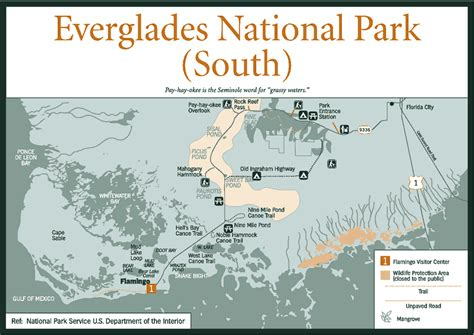 everglades national park map sherpa guides florida florida everglades everglades national park south