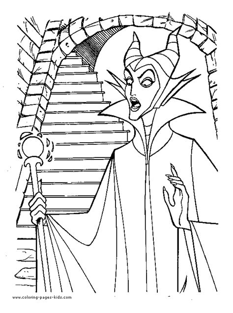 wicked witch coloring page sleeping beauty and wicked witch coloring pages kids