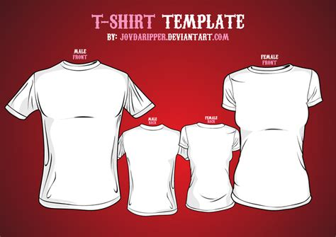 T Shirt Templates Vector vector t shirt template by jovdaripper on deviantart