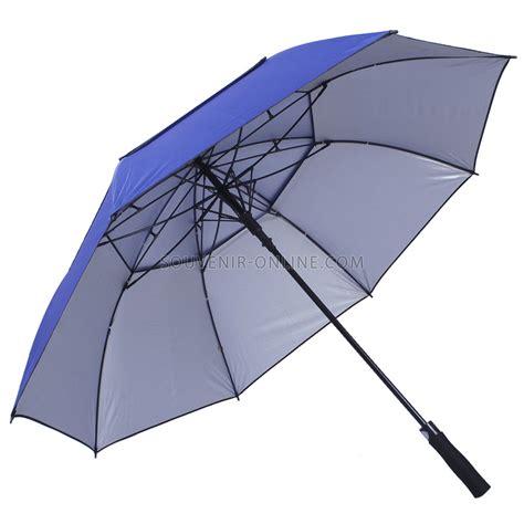 Payung Golf Luar Hijau Dalam Silver payung golf susun biru silver tombol buka otomatis