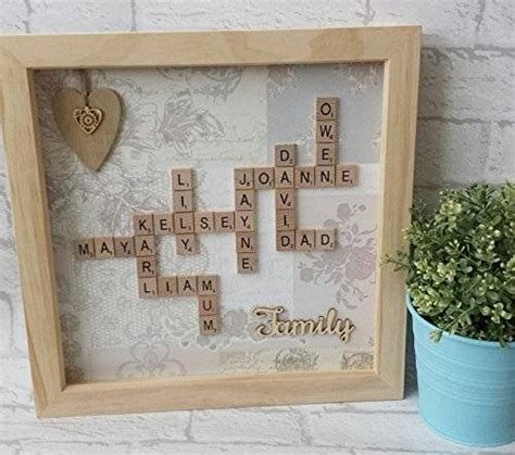 Other Words For Handmade - personalised 12x12 quot framed scrabble co uk