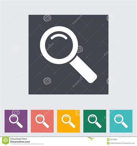 Search Single Search Single Flat Icon Royalty Free Stock Photos Image 33178288