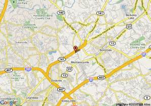 where is norcross on the map map of 8 motel norcross ga norcross