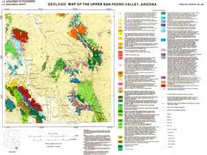 geologic map of arizona depth to bedrock in the san pedro valley cochise