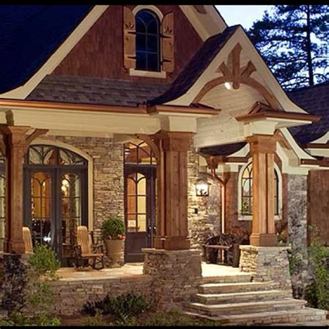 stone and wood homes love the wood and stone the way i tic pinterest