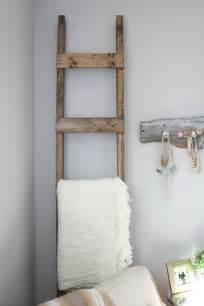 Rustic Country Kitchen Designs 30 minute diy blanket ladder