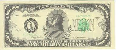 Million Dollar Bill - Millennium Note series 2000, Serial number ... $1000000 Bill