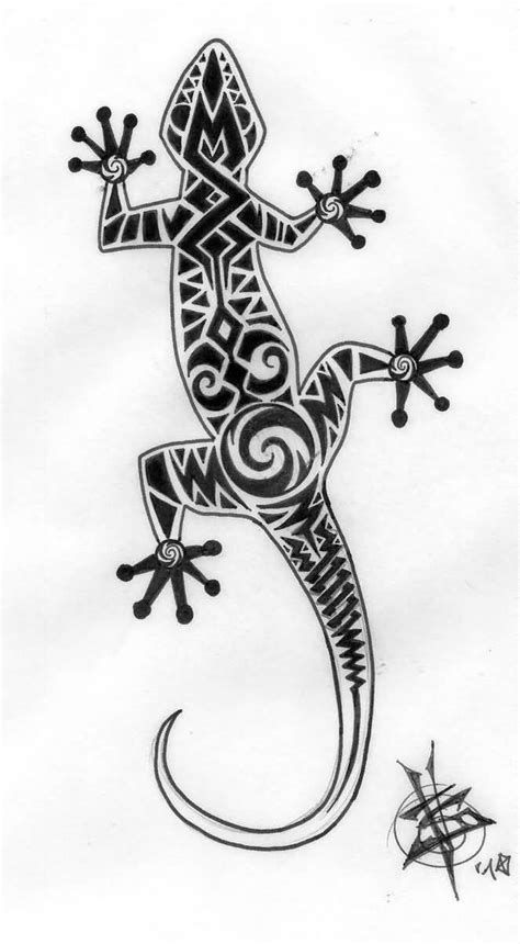 unique maori lizard tattoo design tattooshunter com