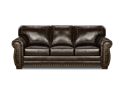 Nail Head Panama Espresso Sofa And Loveseat By Simmons Simmons Leather Sofa And Loveseat