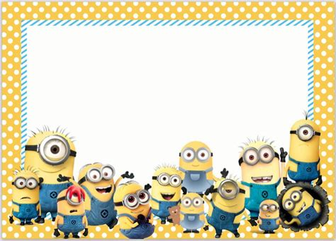 minion card template best 25 minion invitations ideas on