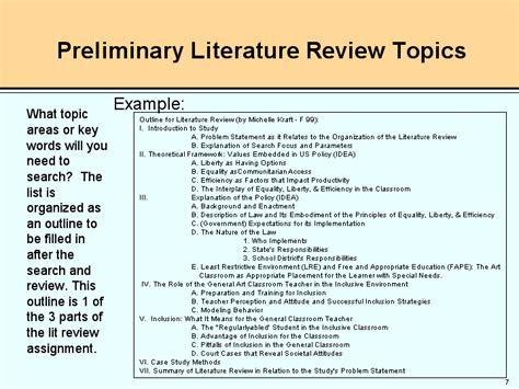 Literature Review Topics List topics for literature review