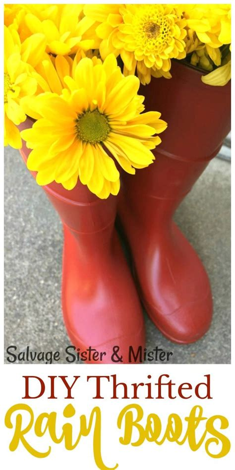 diy thrifted rain boots todays creative life