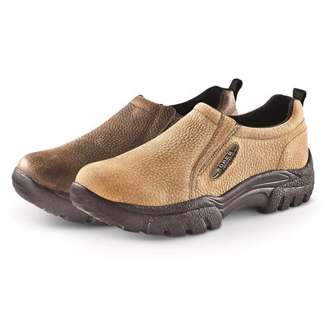 s roper performance sport slip on shoes brown