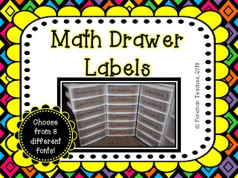 Math Drawer by Foreman Teaches Classroom Management I Was Made An Offer
