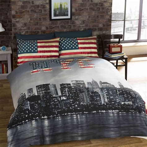 Bed Linens Nyc New York City Bedding Single Duvet Cover Sets Usa Skyline